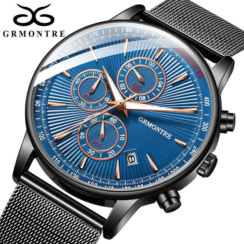 Fashion Men Watches Male Top Brand Luxury Quartz Watch Men Casual Dress Waterproof Sport WristWatch Relogio Masculino GrMontre