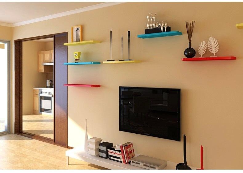 Colorful Floating Shelves Home Design