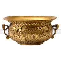 Chinese Feng Shui Decor The Bronze Sculpture Cornucopia Carved Metal Handicraft Home Decoration