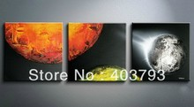 New !! Large Modern Abstract Art Oil Painting Wall Deco  abstract painting Sun meteorites free shipping