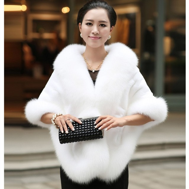 2017 Hot Sale Solid Adult Winter Free Shipping New Bride Cape Evening Wear Cloak Thickening The Fox Mink Imitation Coat