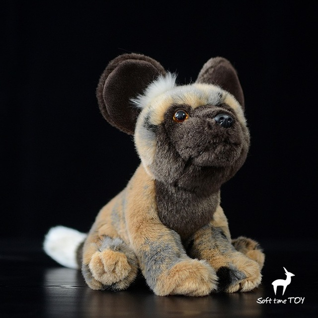 African Wild Dogs Doll Plush Toy Simulation Stuffed Animal Kids Toys