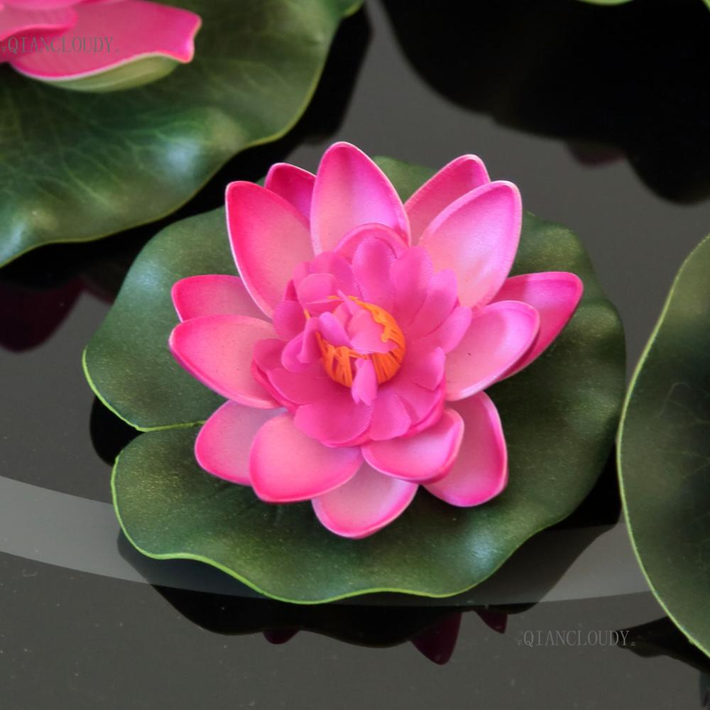 Artificial Rose Lotus Leaf leaves ponds flowers Water Lily Floating ...