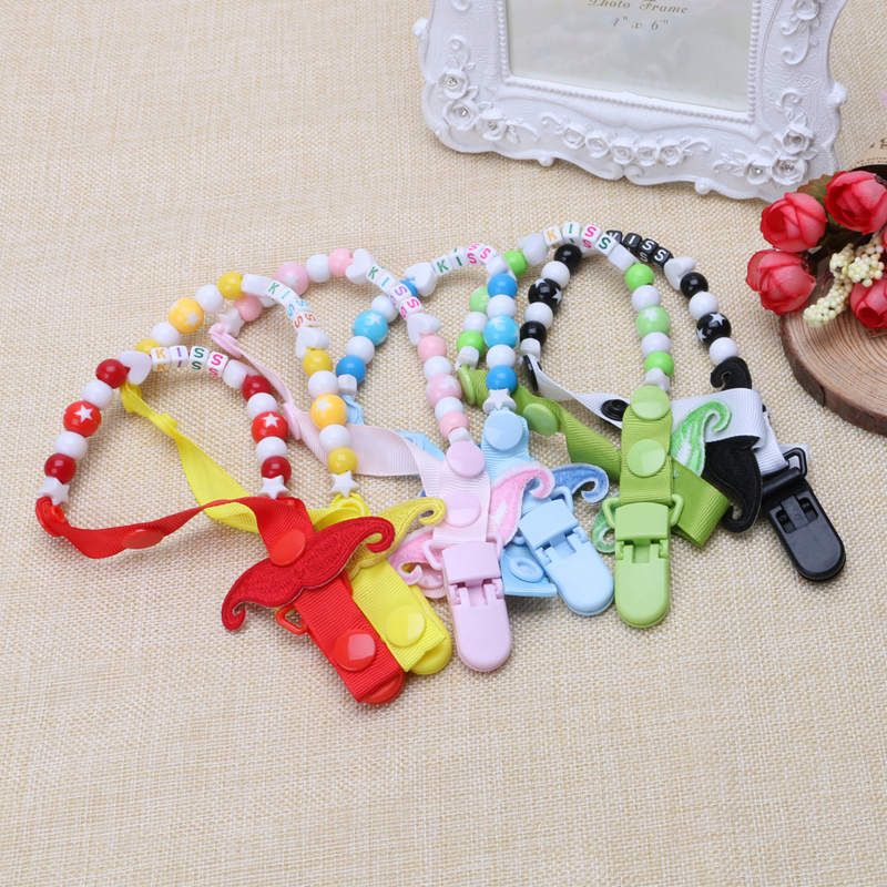 2017 Toddler Baby Boy Girl Dummy Pacifier Soother Nipple Strap Chain Clip Holder Gift  APR10_30 #A