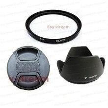 58mm filtro uv de vidro + lente capa kit tampa da lente para canon nikon pentax olympus sony lentes da câmera 58mm