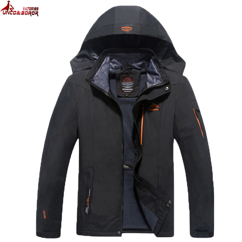 Size 6XL 7XL 8XL Male Hiking Jacket Spring Autumn Waterproof Windproof Outdoor Thick Jacket Coat Tourism Mountain Jacket Men authentic nike men s coat spring new windproof jacket windrunner training