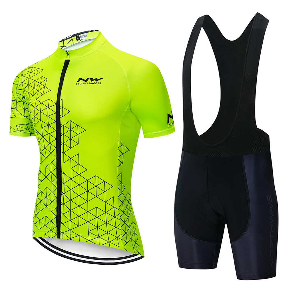 2019 NW Cycling Jersey Set Summer Short Sleeve Cycling Clothing Ropa Ciclismo Maillot Ropa Uniformes Hombre # 524