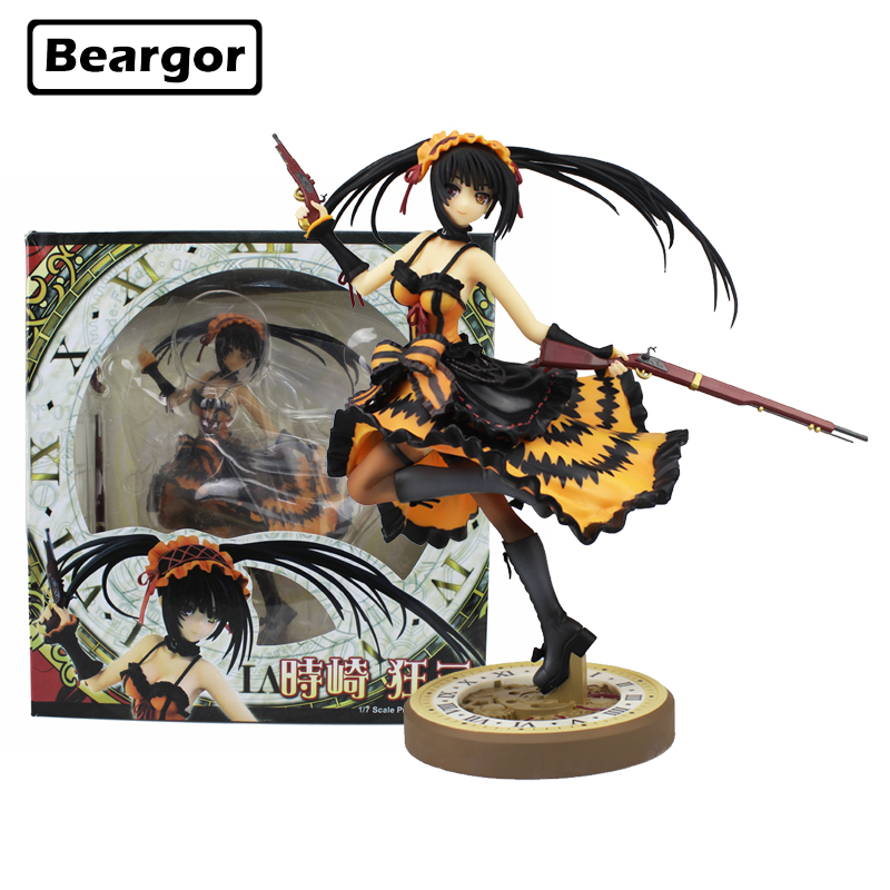 9 inch Date A Live Nightmare Tokisaki Kurumi Two Gun Ver. Boxed 23cm PVC Anime Action Figure Collection Model Doll Toys Gift date a live tokisaki kurumi 1 8 scale pvc figure collectible toy 9 23cm y81