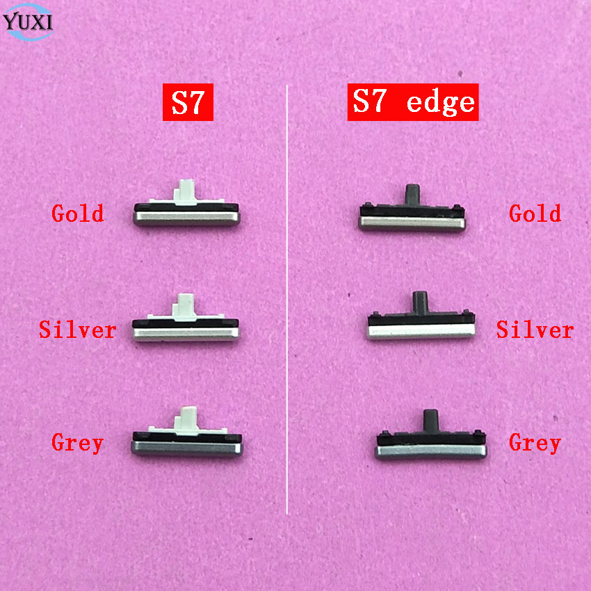 YuXi 1set=3pcs Side Button For Samsung Galaxy S7 G930 / S7 Edge G935 Power On / Off +Up / Down Volume Button Key