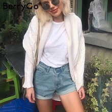 BerryGo Casual winter knitted cardigan sweater