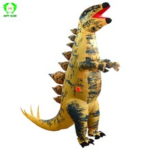 Stegosaur Dinosaur Inflatable Costumes Jurassic World Park t-rex Dinosaur Cosplay Costume Halloween Party Costume for Adult kids(China)