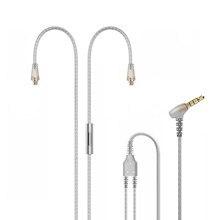 Câble MMCX plaqué argent avec Microphone et télécommande pour Tennmak PRO, TRIO, SHURE SE215 SE315 UE900 couleur claire
