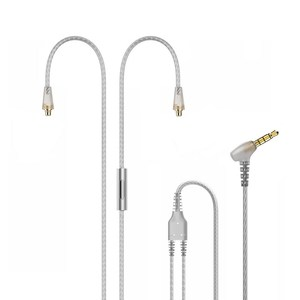 Image 1 - Tennmak Upgrade Silver Plated MMCX Cable with Microphone and Remote for Tennmak PRO,TRIO,SHURE SE215 SE315 UE900  Clear Color