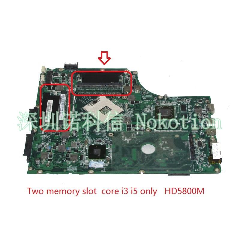 NOKOTION MBPUP06001 MB.BPJ06.001 Main board For acer Aspire 7745 laptop motherboard DA0ZYBMB8E0 HD 5800 HM55 DDR3 i3 i5 cpu only