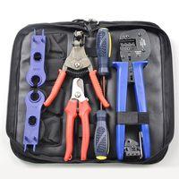 Solar pv Crimping Tool Kits for 2.5 6.0mm2 MC3/MC4 connectors,solar tool set with MC4/MC3 Crimper,Stripper,Cutter