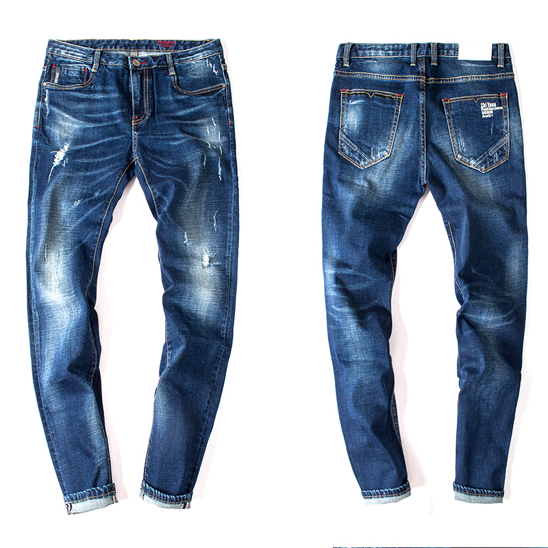 2016 New Fashion Mens Jeans Brand Men Casual Jeans Pants Slim Mens Jeans Trousers Washed Pants