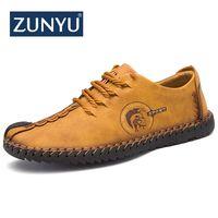 Zunyu 2018 новые удобные Для мужчин повседневная обувь Лоферы качество Обувь из спилка Для мужчин Туфли без каблуков Лидер продаж Мокасины 38-46