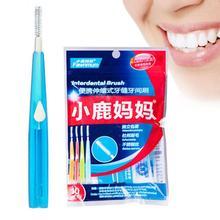 10Pcs / Box 푸시 - 당겨 치간 칫솔 연약한 치실 치실 칫솔 치열 교정 칫솔 구강 관리 이쑤시개 0.7 0.8 1.0 1.2mm Z3