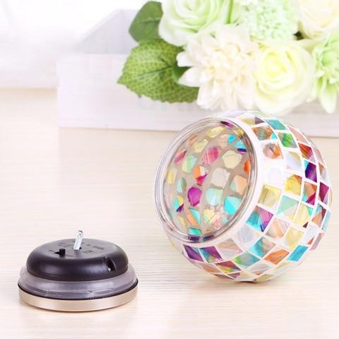 nova bola de vidro mosaico movido