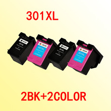 4x compatible ink cartridges for hp301 for hp 301 301xl Officejet 4630 4634 4639 Envy 4500 4502 4505