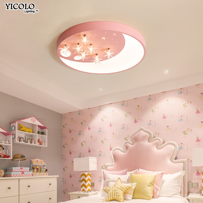 LED Ceiling Lights for kids room lighting children Baby room ceiling light with Dimming for boys girls bedroom dome lamp fixture for honda cr v crv 2017 2018 suv stainless steel rear bumper protector sill trunk rear guard plate cover trim car styling