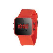 New Women Fashion Unisex LED Screen Digital Silicone Strap Girl BoyQuartz Sport Kid Wrist Watch dropshipping free shipping  #60