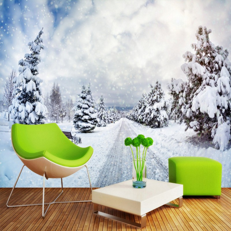 Free Shipping Snow Christmas background wall painting bathroom bedroom home decoration wallpaper mural living room  free shipping retro female star mural background wall bathroom studio home decoration artistic studio bedroom wallpaper