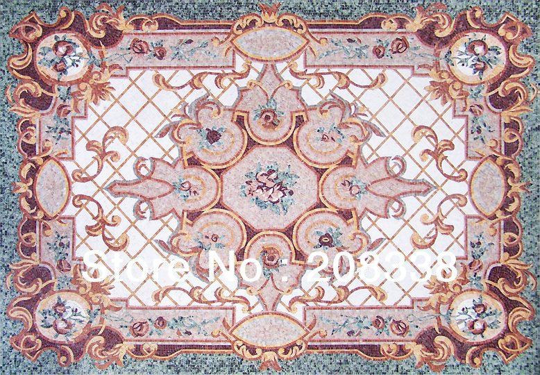 rug marble mosaic tile stone art floor inlay