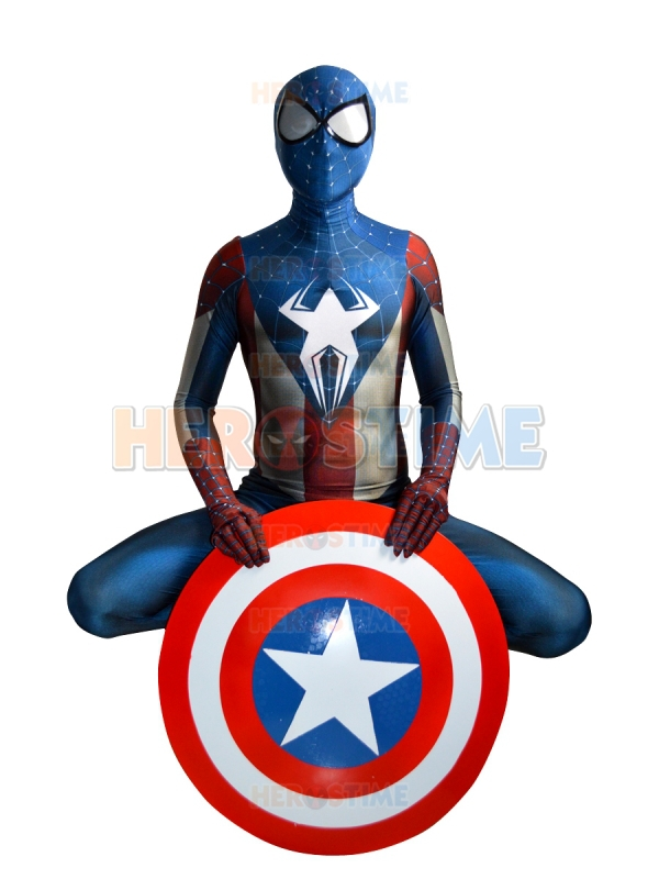 Captain America Spider-man costume Morph Suit  movie Captain America cosplay costume male/kids/female can custom made