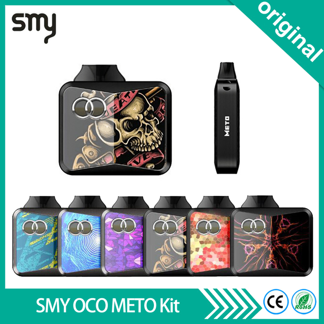 Новейшая оригинальная электронная сигарета SMY OCO METO Vape комплект все-в-одном испаритель 650 мАч батарея 1,5 мл Pod распылитель Vaper