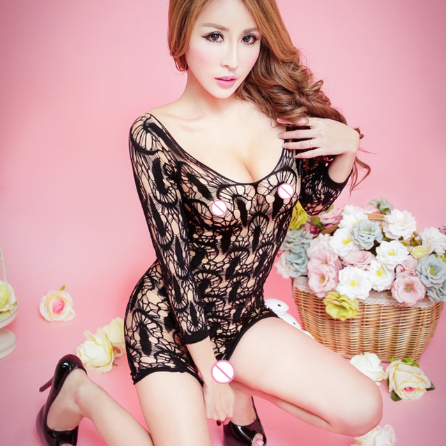 Black Blue Rose Red Porn Women Sexy Lingerie Dress Sexy Babydoll Sexy Costumes Hollow Baby Doll