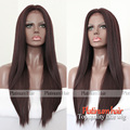 180 Density Long Silky Straight Synthetic Wigs High Quality Heat Resistant Synthetic Lace Front Wig Free Shipping In Stock