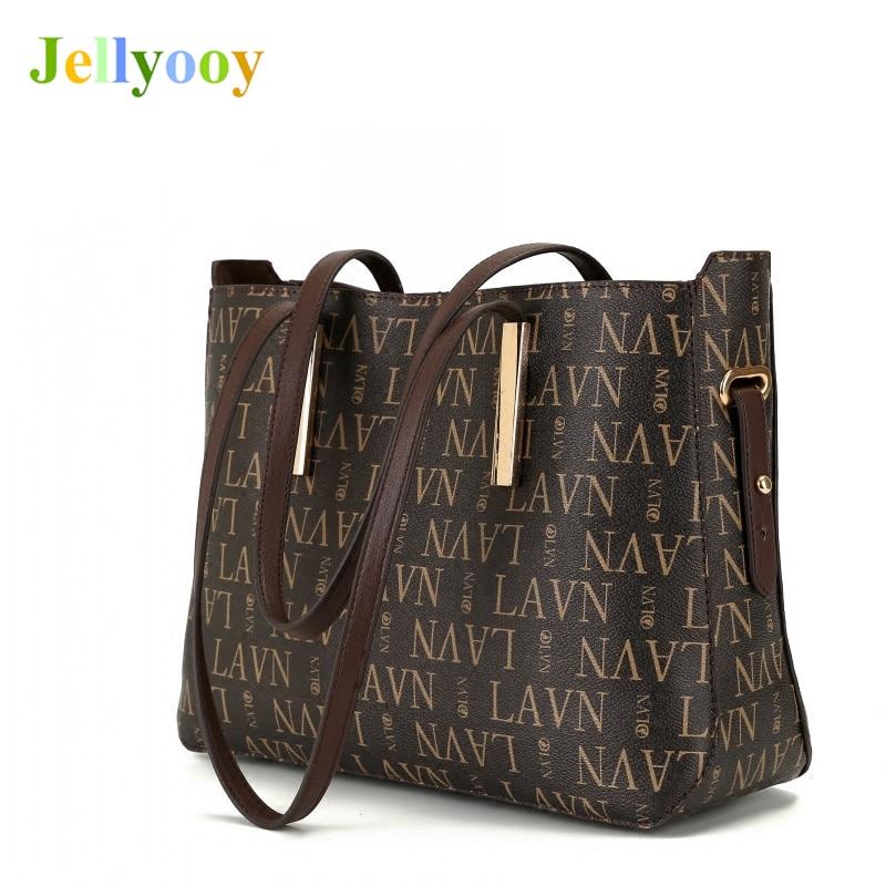 Luxury Genuine Leather Letter Logo Print Tote Bag Fashion Classic Neverful Women Handbag Good Quality Shopper Bag Louis Bag L V* letter print knot front top