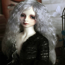 8 9 Bjd Doll Wig Silver medieval sea lines volume Uncle mohair wig