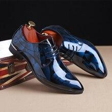 Men Dress Shoes Floral Pattern Men Formal Shoes Leather Luxury Fashion Groom Wedding Shoes Men Oxford Shoes Dress 37-50