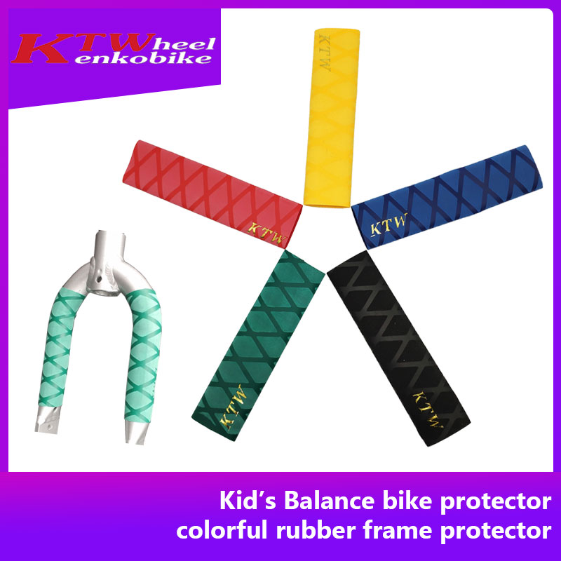 Bike accessories KTW bike protector for balance bike front and rear fork push bike striders colorful rubber frame protector
