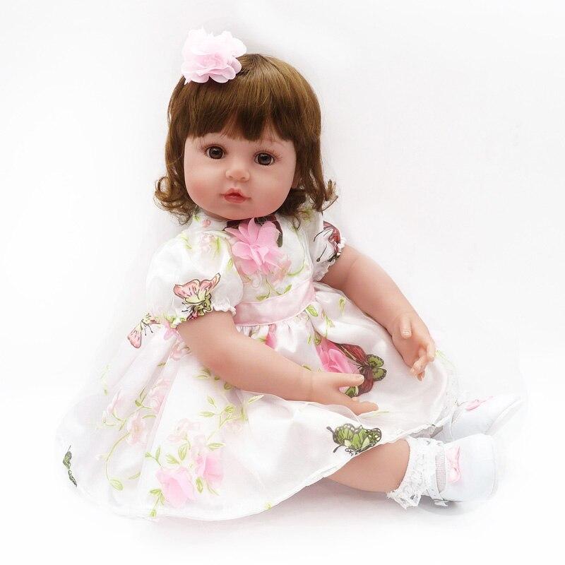 22 дюймов 55 см новые victorianes Adora реалистичные юбка платье для новорожденных bonecas Детские Kid Игрушка для девочек Мягкие силиконовые возрождаетс...