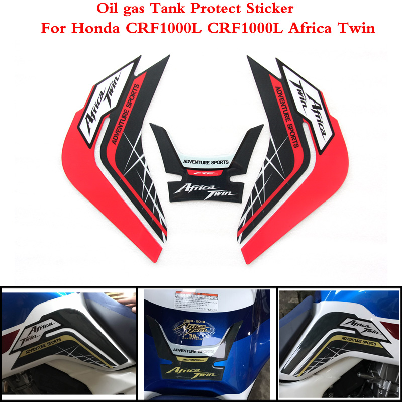 Motorcycle Tank Pad Protector Sticker Fish Bone Sticker 2 Color For Honda CRF1000L CRF 1000L CRF1000 L Africa Twin 2014-2019