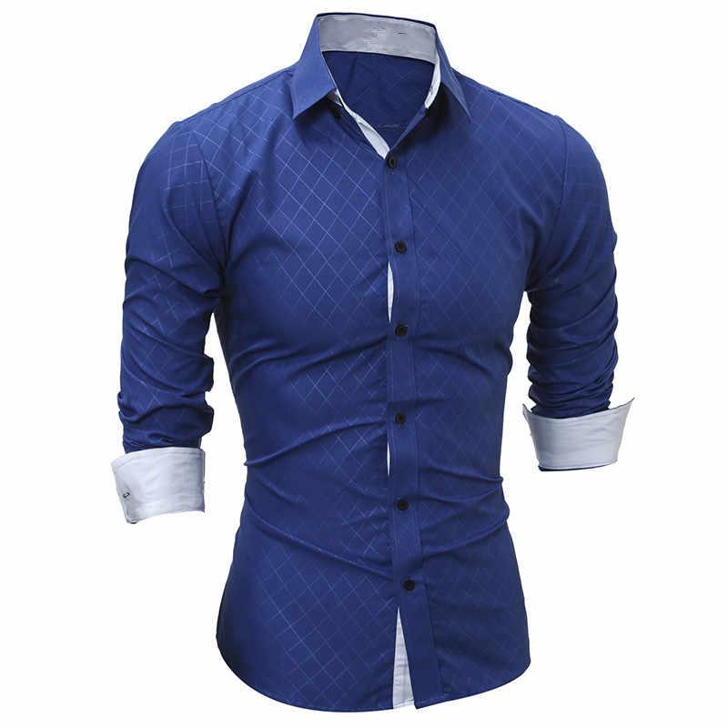 Новая мужская Повседневная рубашка с длинными рукавами, модная рубашка-смокинг, однотонная, приталенная, черная, мужская рубашка, рубашки, Camisa Social Masculina