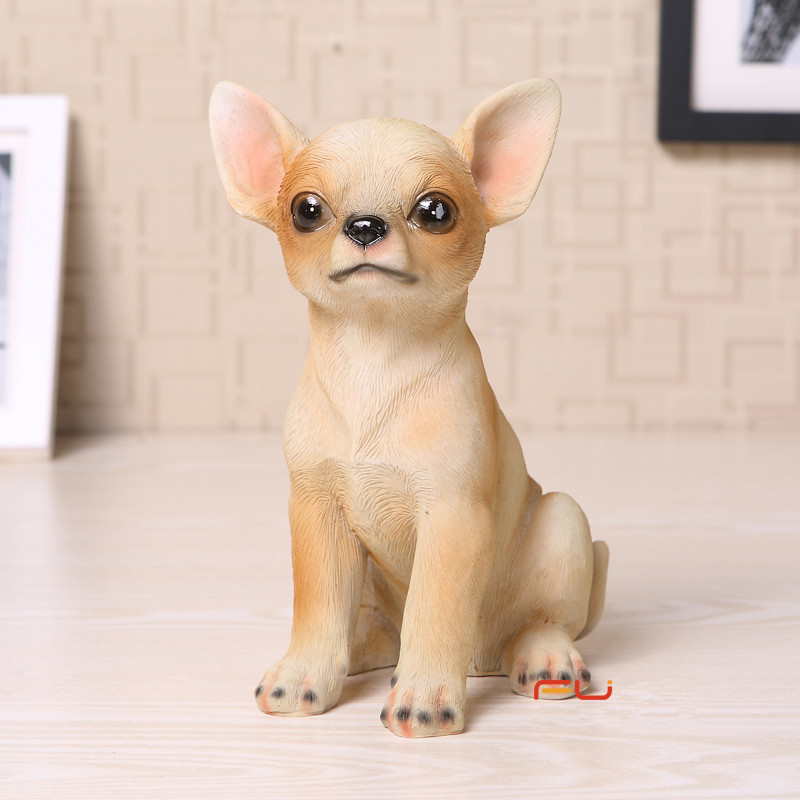Online Shop Hand Painted Vivid Zakka Resin Animal Craft Dog Chihuahua Resin  Dog Figurines Resin Animal Statues For Home U0026 Garden Decorations    Aliexpress ...