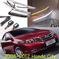 Car-styling, Ciudad de luz diurna, 2008 ~ 2012/2014 ~ 2016, chrome, LED, Envío Gratis! 2 unids, Ciudad de la luz de niebla, coche cubiertas, la Ciudad de faro