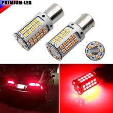 لا فرط فلاش 21 واط عالية الطاقة الأحمر 1156 7506 BA15s P21W مصابيح سيارات LED بدوره أضواء الإشارة ، أضواء خلفية ، أضواء الفرامل ، CANBUS