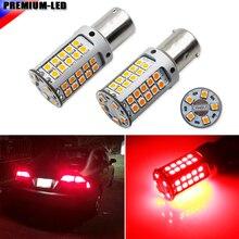 No Hyper Flash 21W alta potencia rojo 1156 7506 BA15s P21W bombillas LED para luces intermitentes de coche, luces traseras, luces de freno, CANBUS