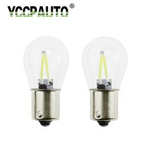 YCCPAUTO 2 шт. 1156 лампы накаливания Ba15s R5W R10W P21w светодиодный задний фонарь заднего хода парковочная лампа DRL белый желтый красный 12 в 24 в
