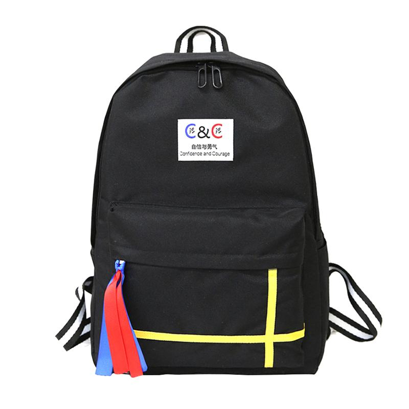 619cba58d0ed 1 шт. рюкзак холст Цвет соответствующие модная школьная сумка рюкзак  студент Открытый спортивные сумки для