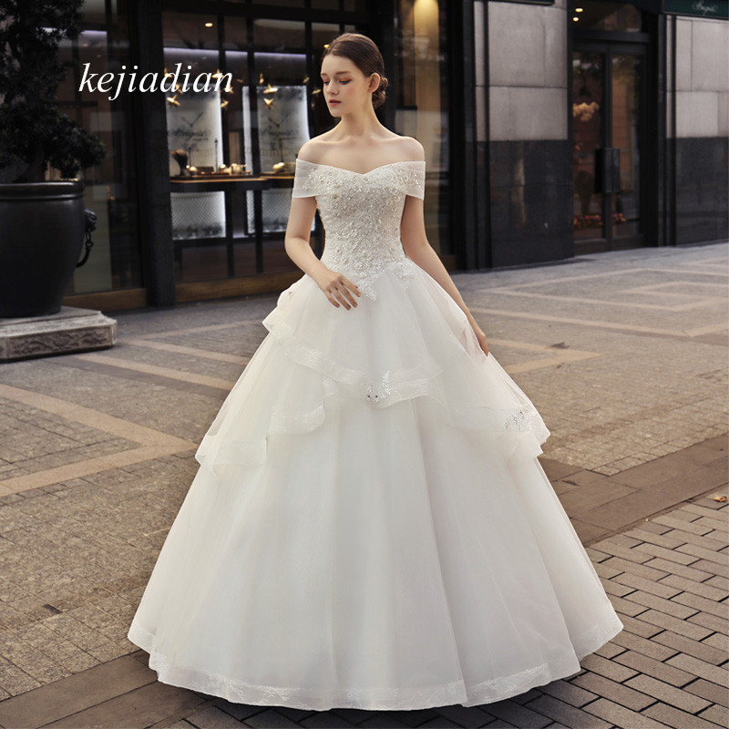 Bridal Gowns Vintage Lace Sexy Off Shoulder Bridal Gowns
