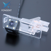 Car CCD 4 LED HD Night Vision Waterproof Reverse Backup Parking Reversing Rear View Camera For