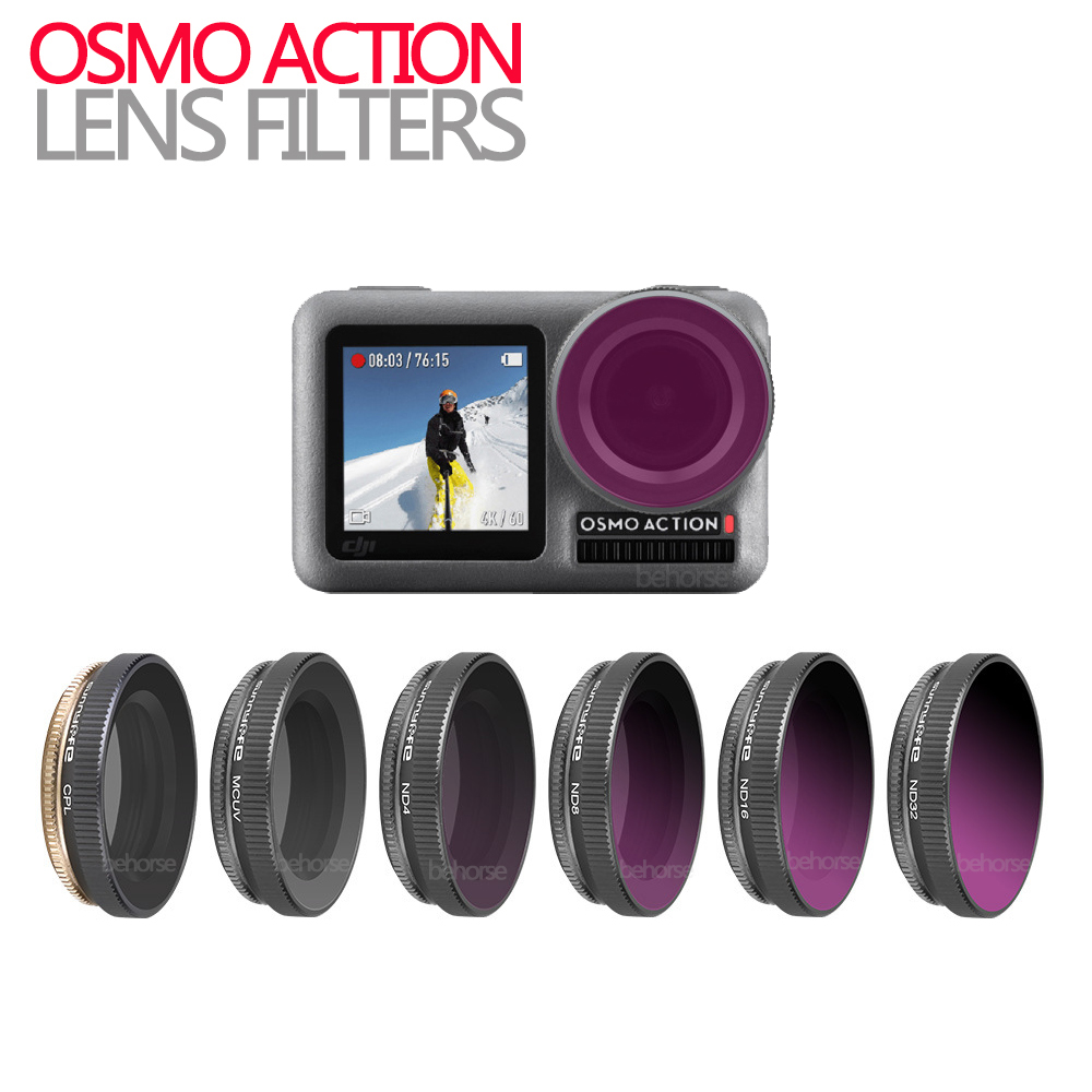 Optional OSMO ACTION Accessory Camera Lens Adjustable/Diving Filter UV CPL ND4/8/16/32 ND4-PL ND8-PL ND16-PL ND32-PL enlarge