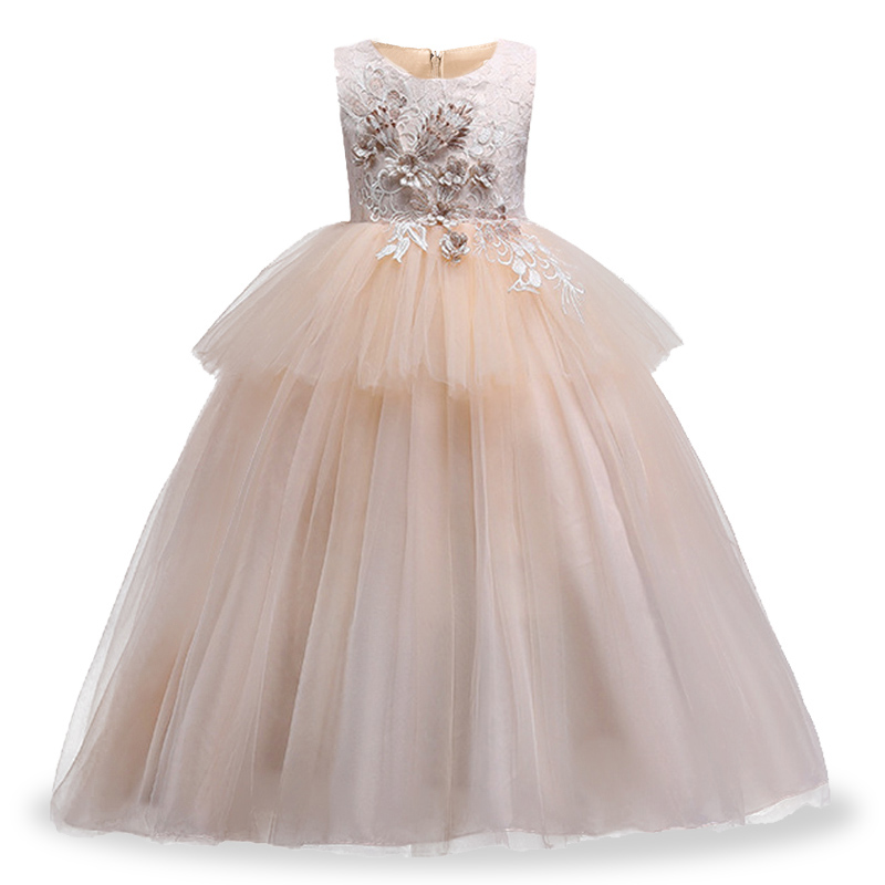Wedding Dress Girl Child Party Dress First Communion Dresses For Girls Ball Gown For Girls Children Clothing Baby Tutu Costume