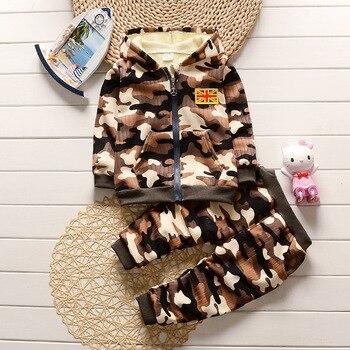 Camouflage Hooded Clothing Set 3